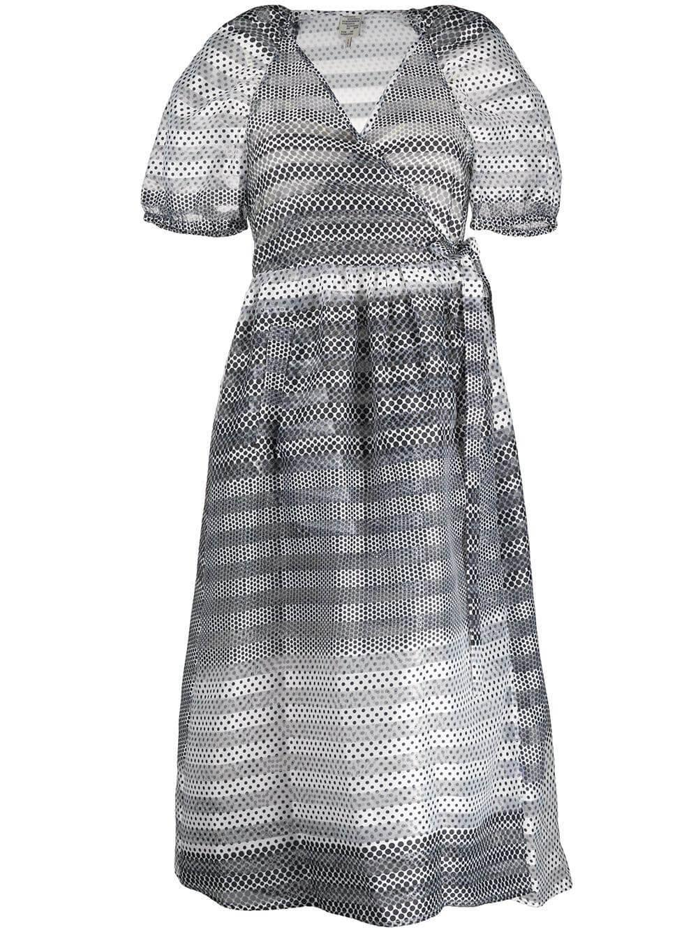Adalaine Midi Wrap Polkadot Dress Item # 21391