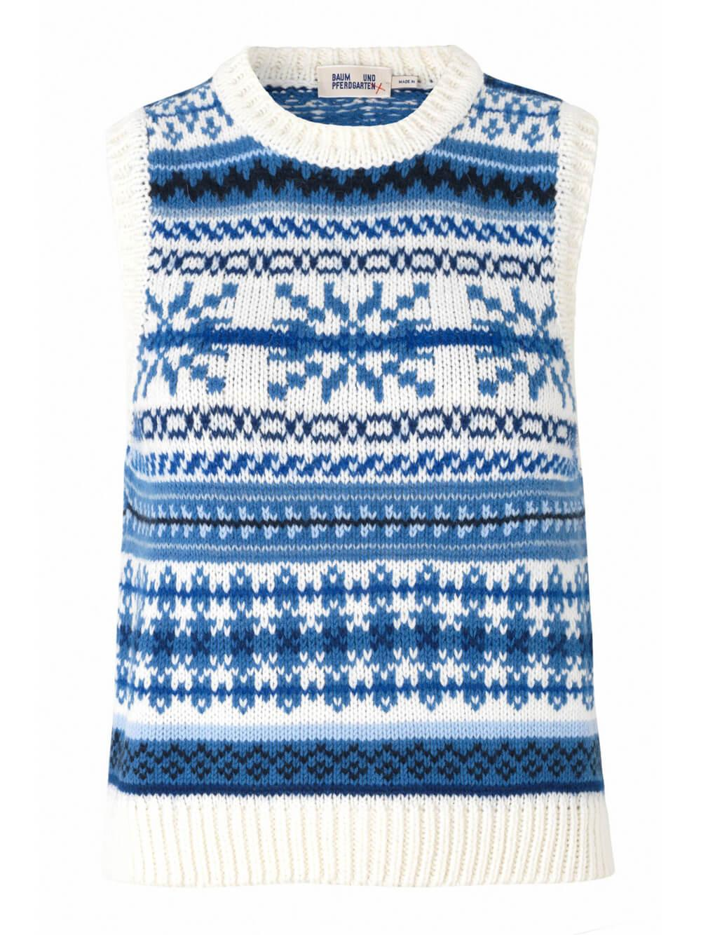 Coleen Fair Isle Sweater Vest Item # 21289