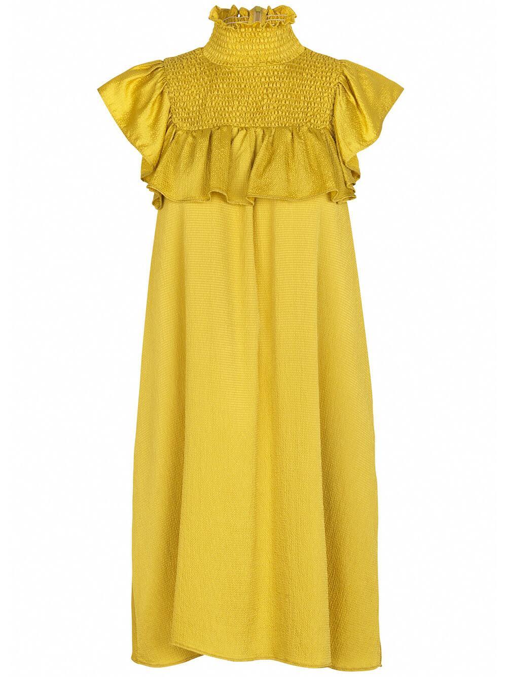 Aelaney High Neck Dress