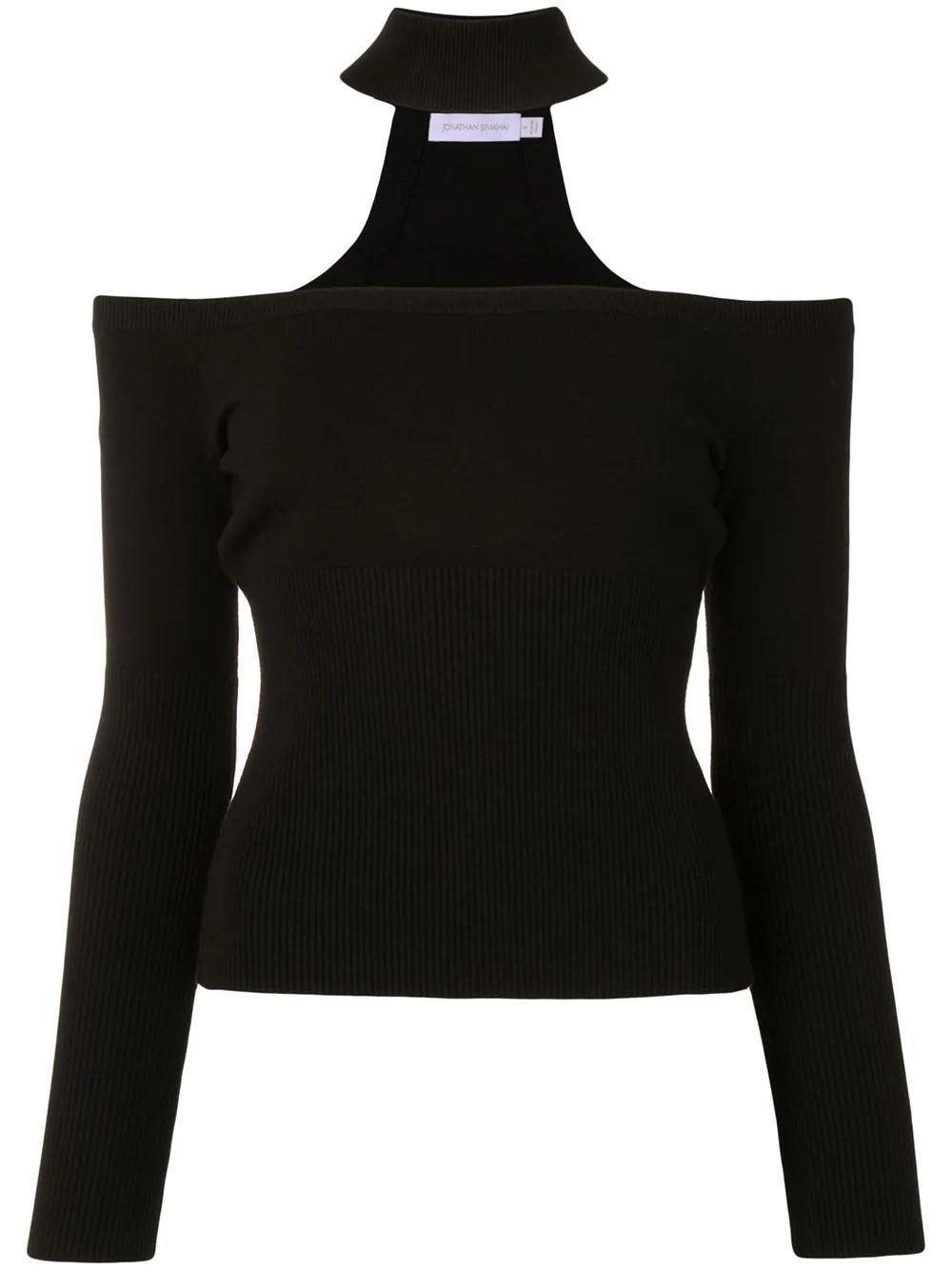 Lila Cold Shoulder Pullover Item # 420-2086-K