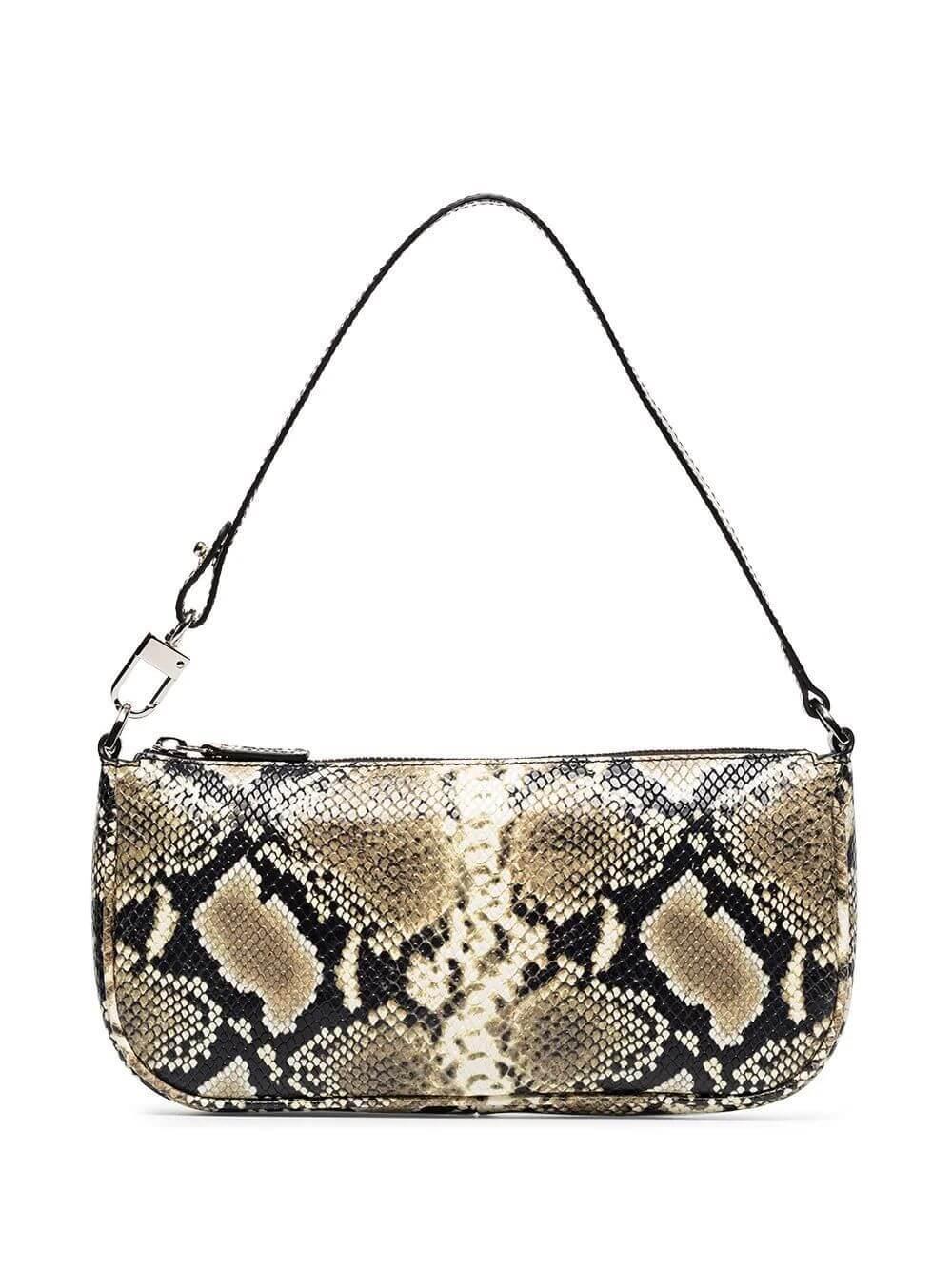 Rachel Snake Print Shoulder Bag Item # 19SSRCLSSPLMED