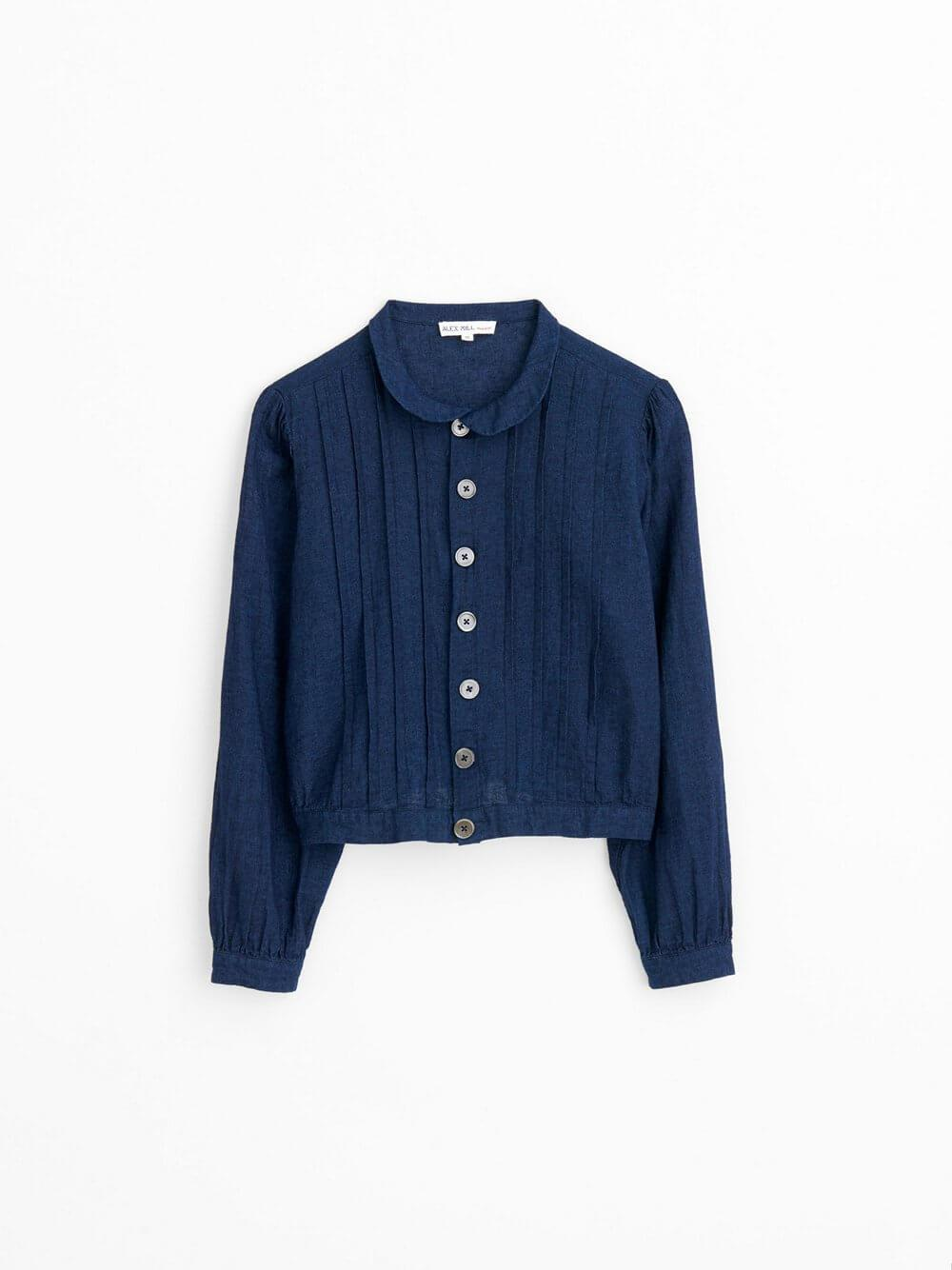 Ruth Cropped Blouse Item # 206-WS031-2549