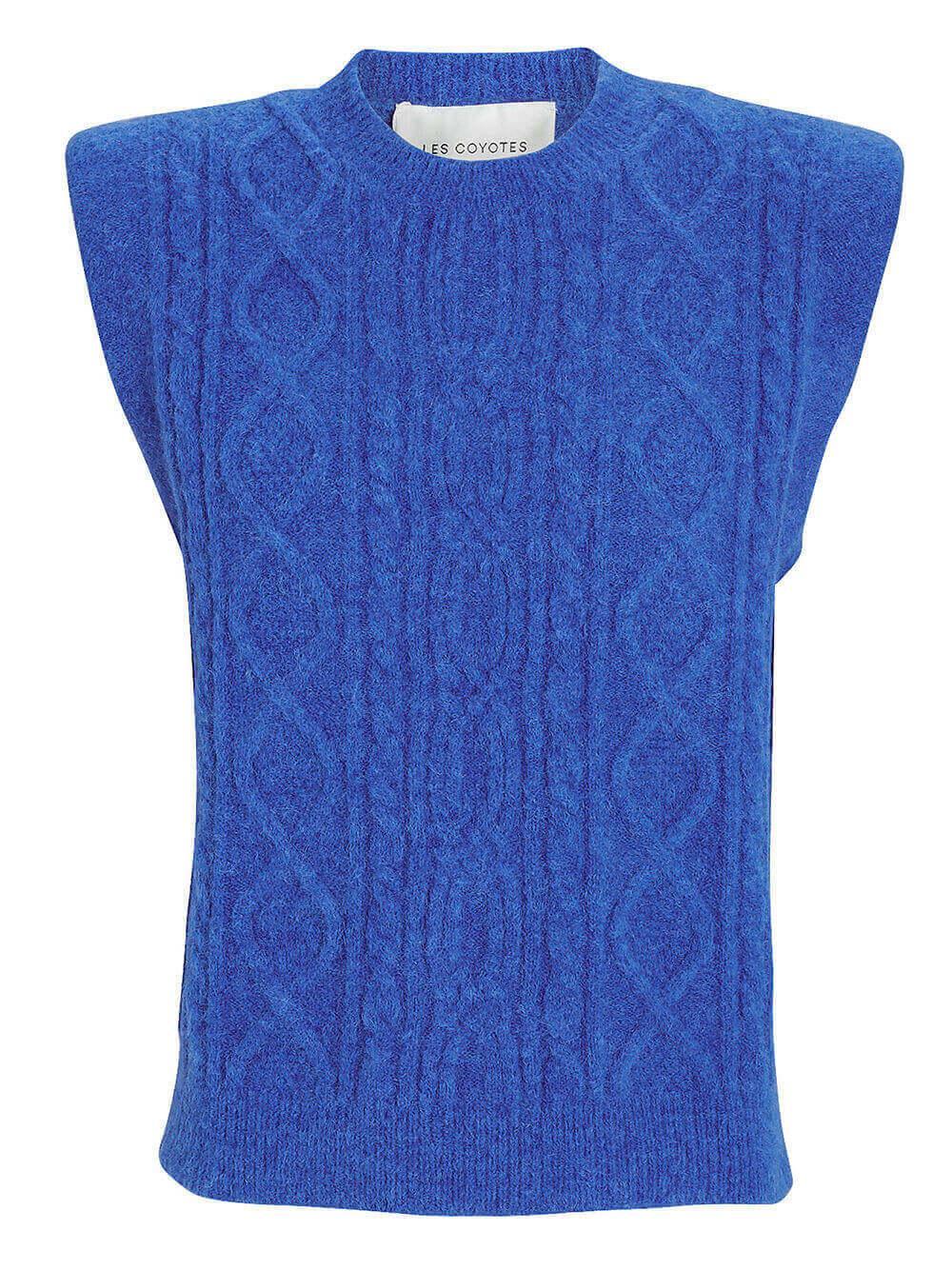 Morris Cable Knit Vest Item # 212-23-125
