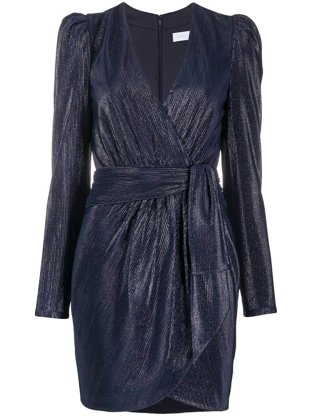 Long Sleeve Wrap Mini Dress Item # 420-1072-M