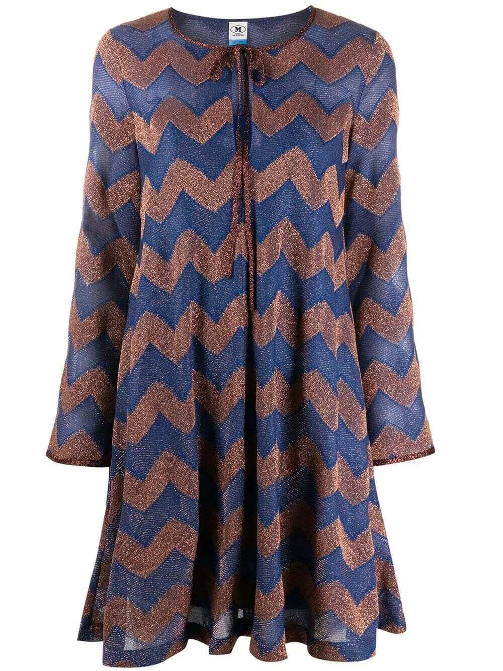 Chevron Knit Mini Dress Item # 2DG00430-2J003R