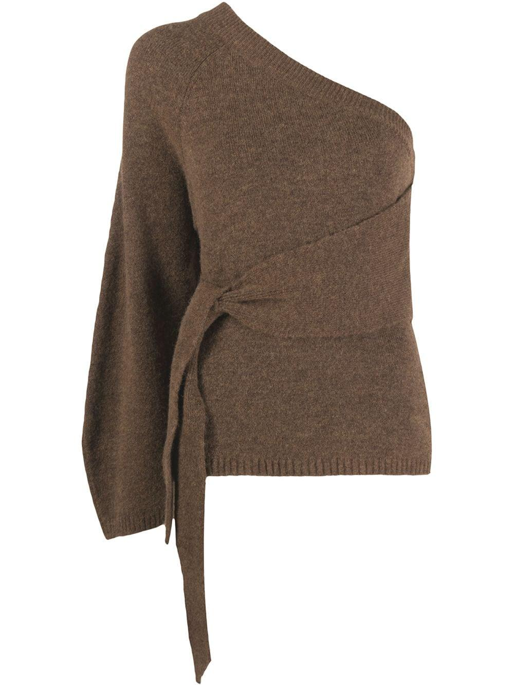 Cleto One Shoulder Sweater Item # NW20PFSW00578