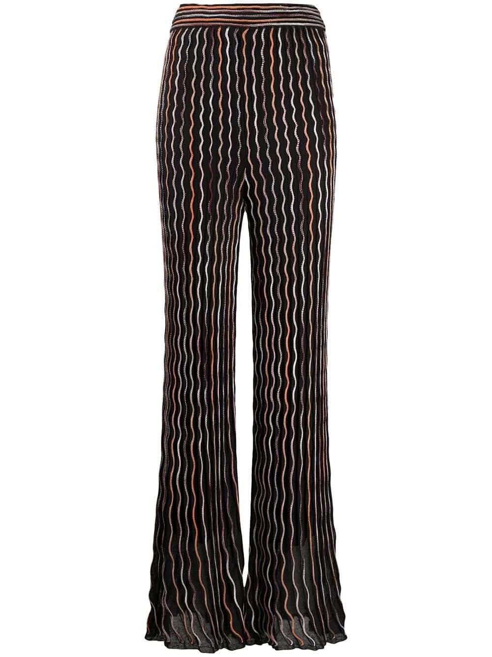 Wave Pattern Knit Pants Item # 2DI00209-2K006I