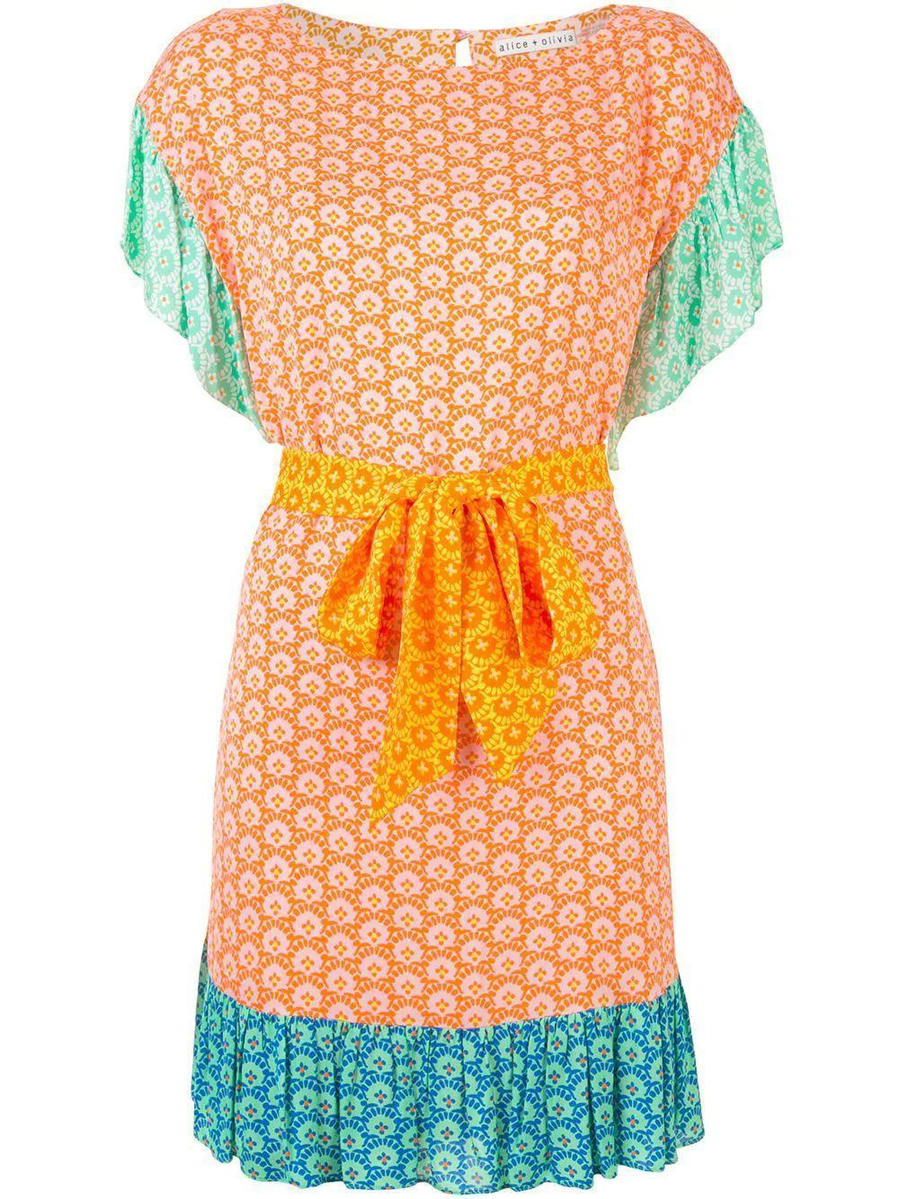 Ellamae Ruffle Shoulder Dress Item # CC005P85546