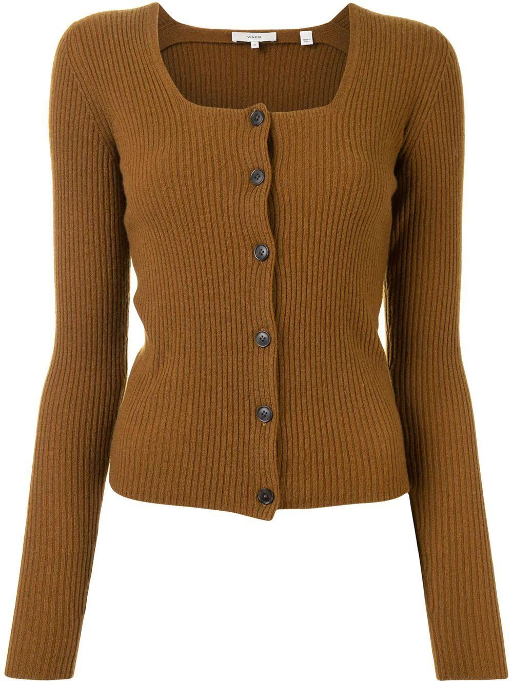 Square Neck Cardigan