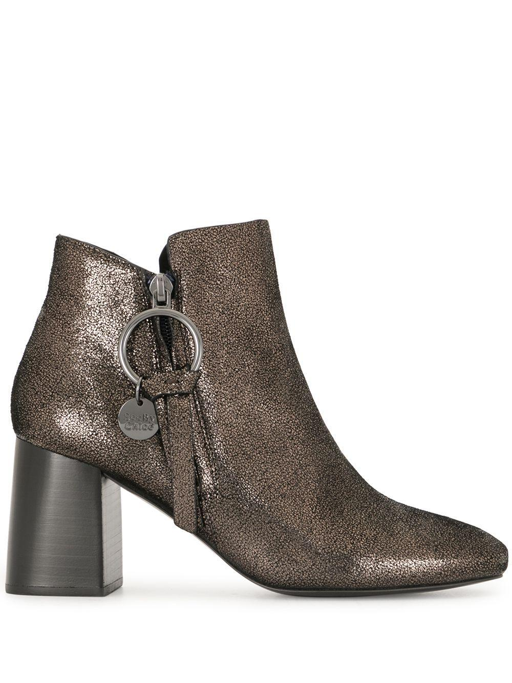 Side Zip Block Heel Bootie