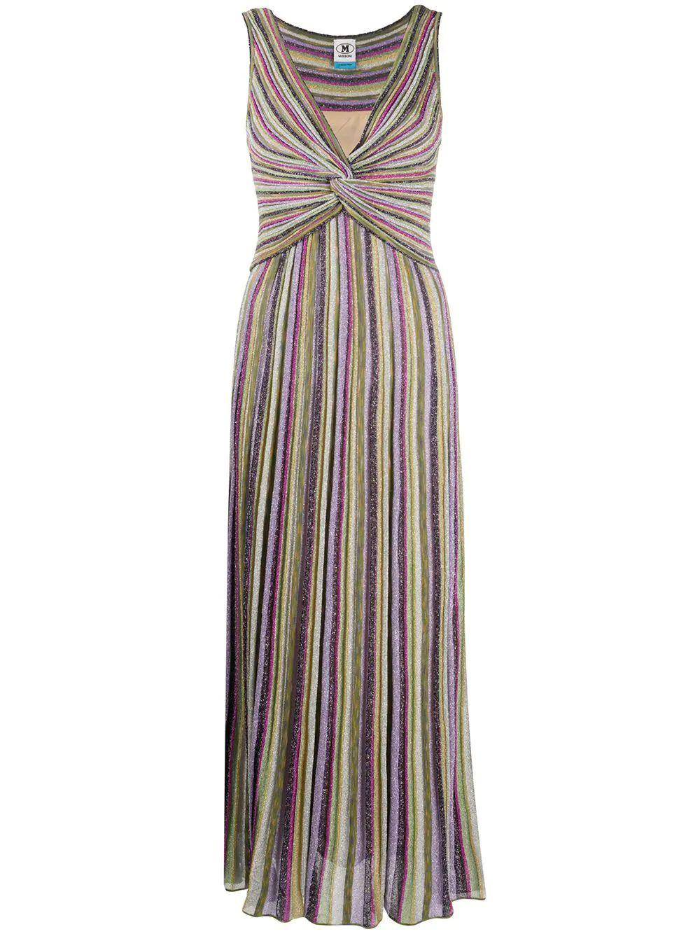 Striped Knit Maxi Dress Item # 2DG00465-2K006R