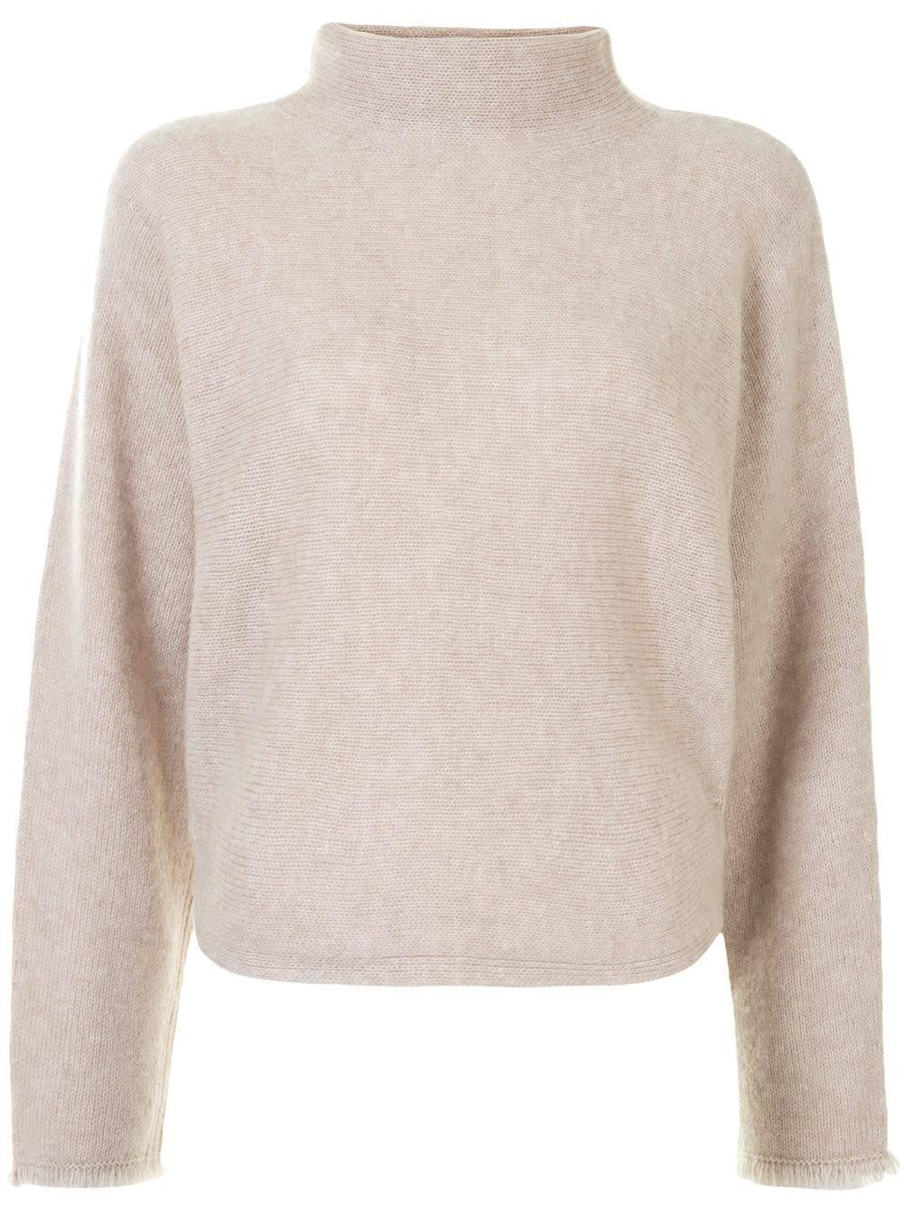 Dolman Sleeve Turtleneck Sweater