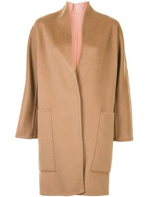 Reversible Collarless Coat
