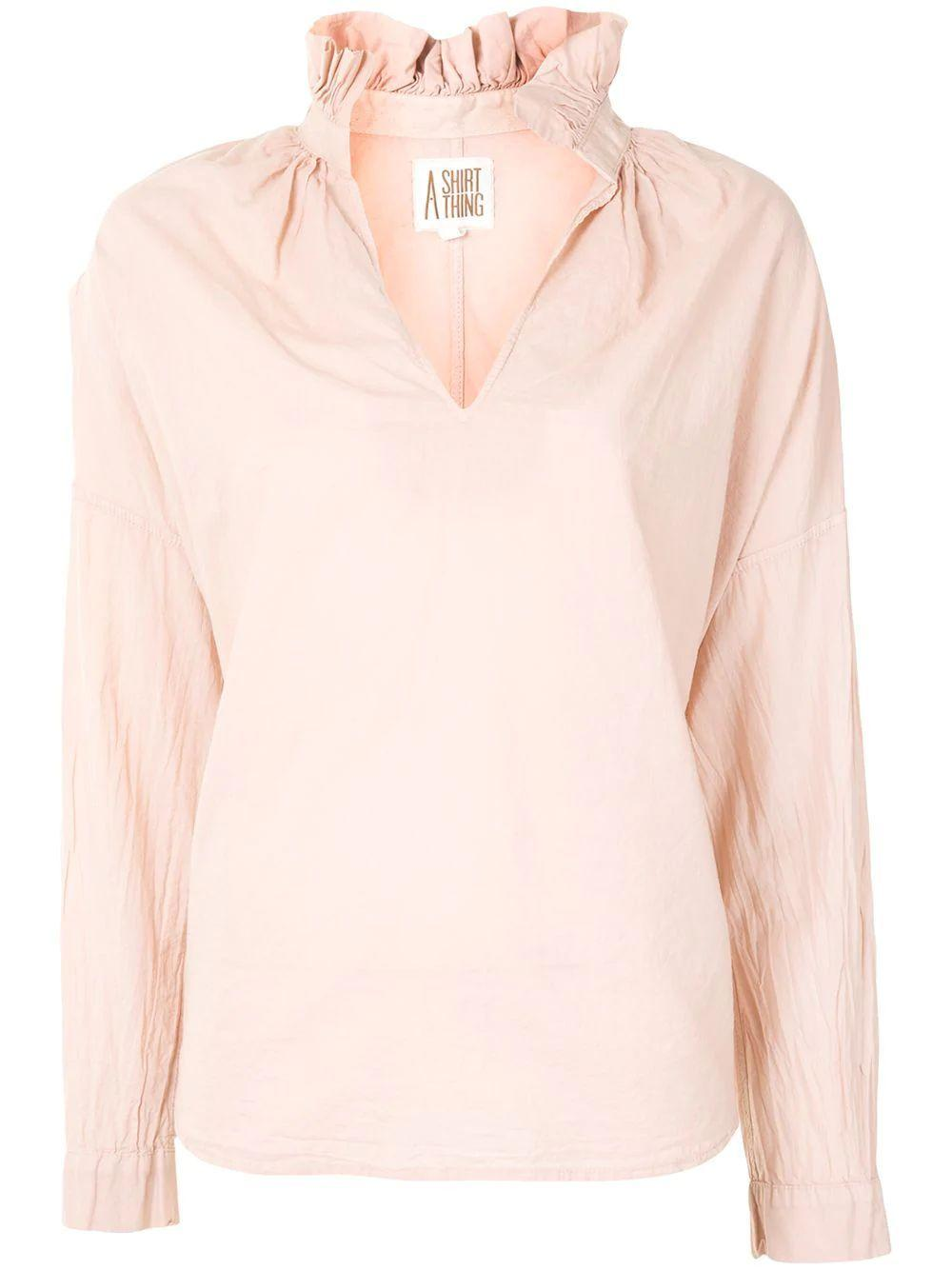 Penelope Cabo Split Neck Blouse