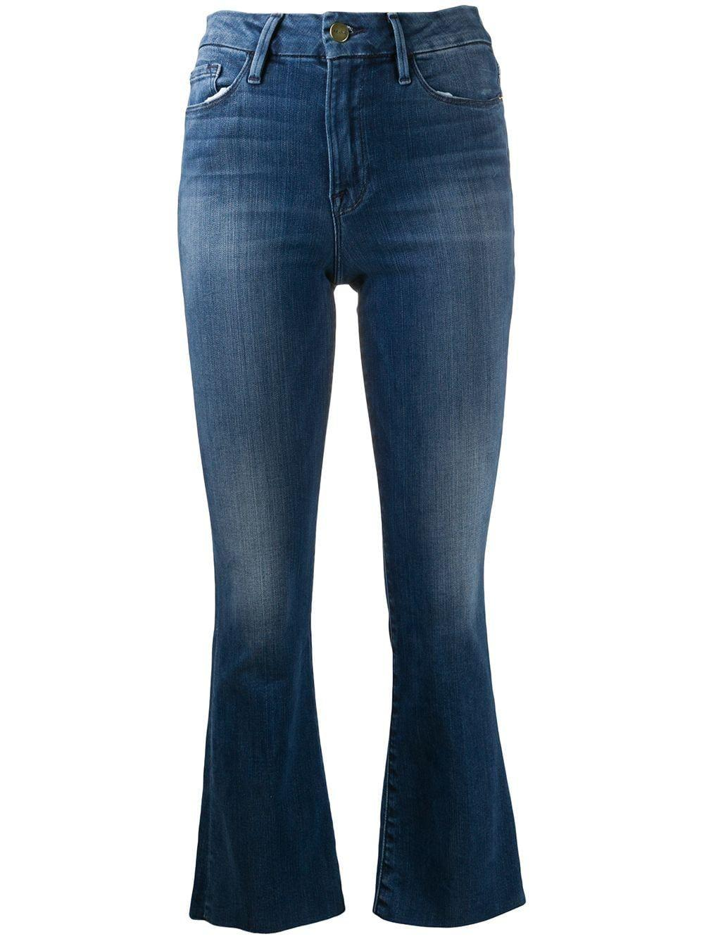 Le Crop Mini Bootcut Medium Wash Item # LCMBRA214