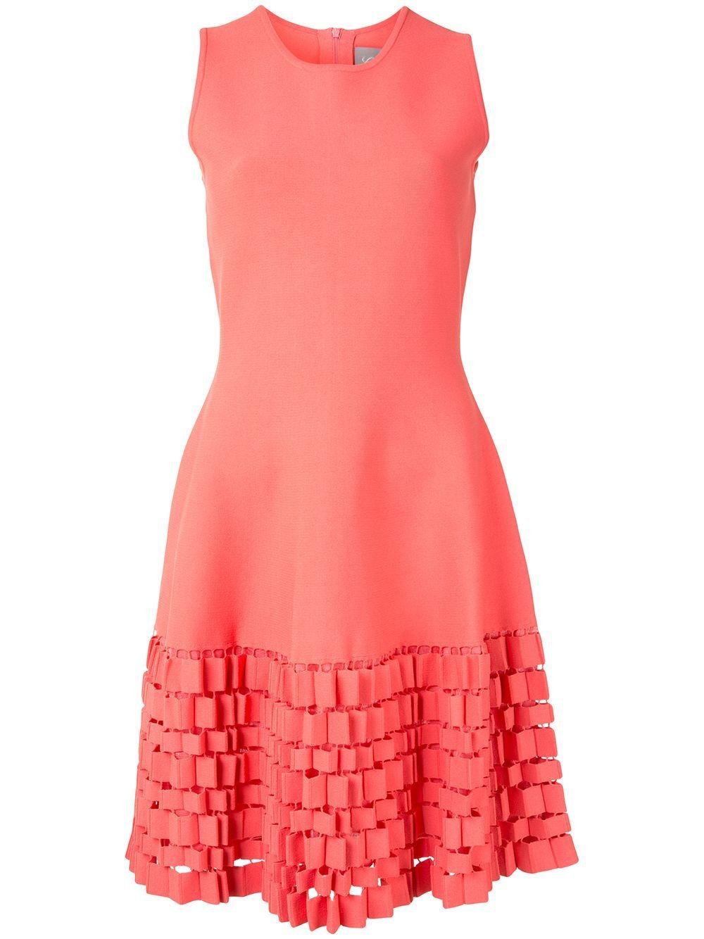 Cutout Detail Fit And Flare Dress Item # PF20KN3554