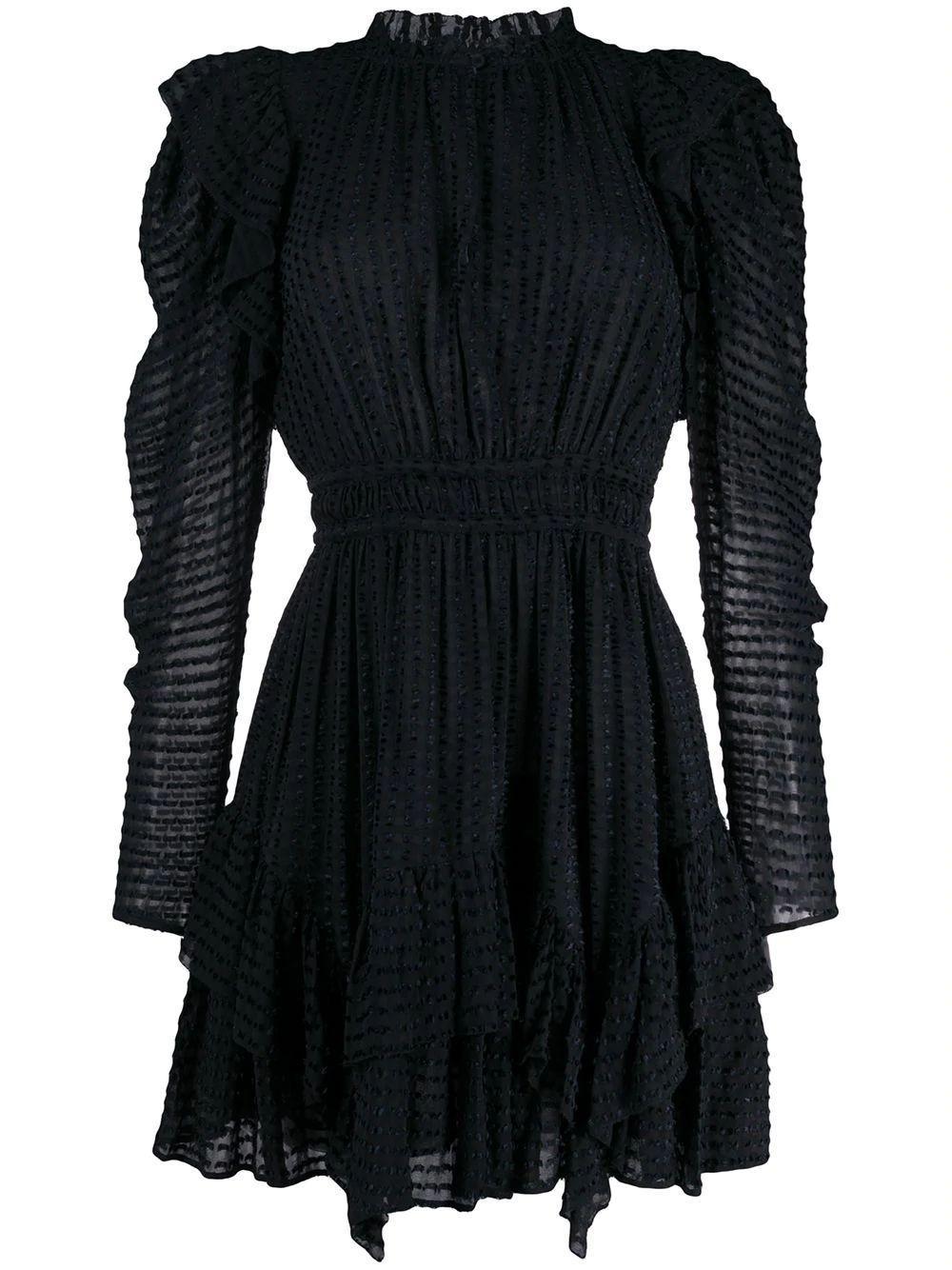 Leah Ruffle Shoulder Short Dress