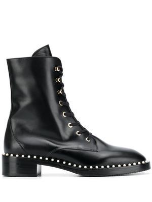 Sondra Smooth Calf Lace Up Flat Boot
