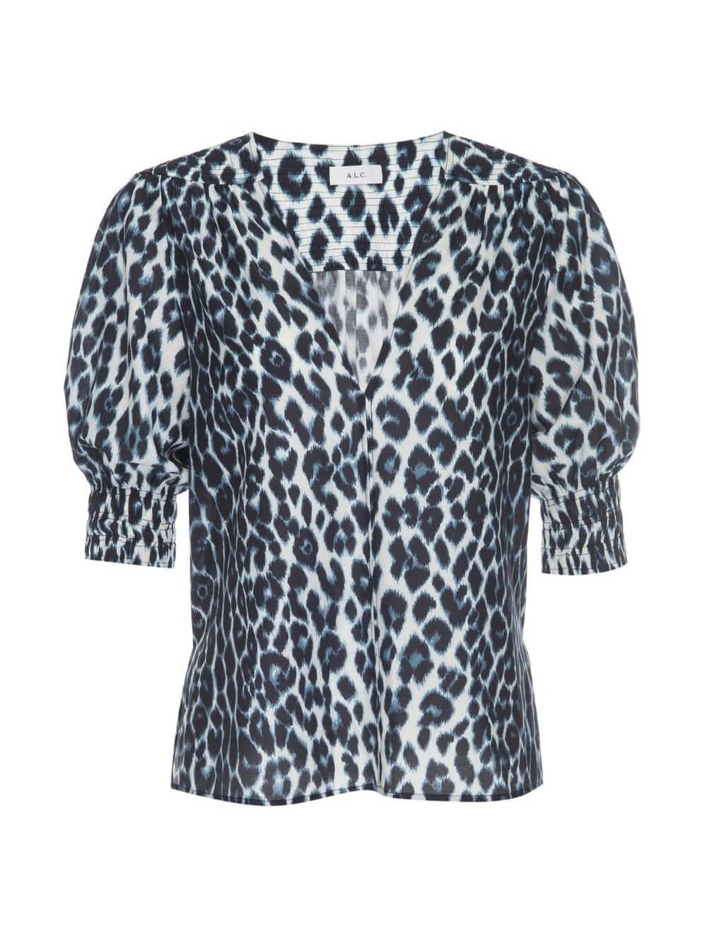 Elton Leopard Print Top