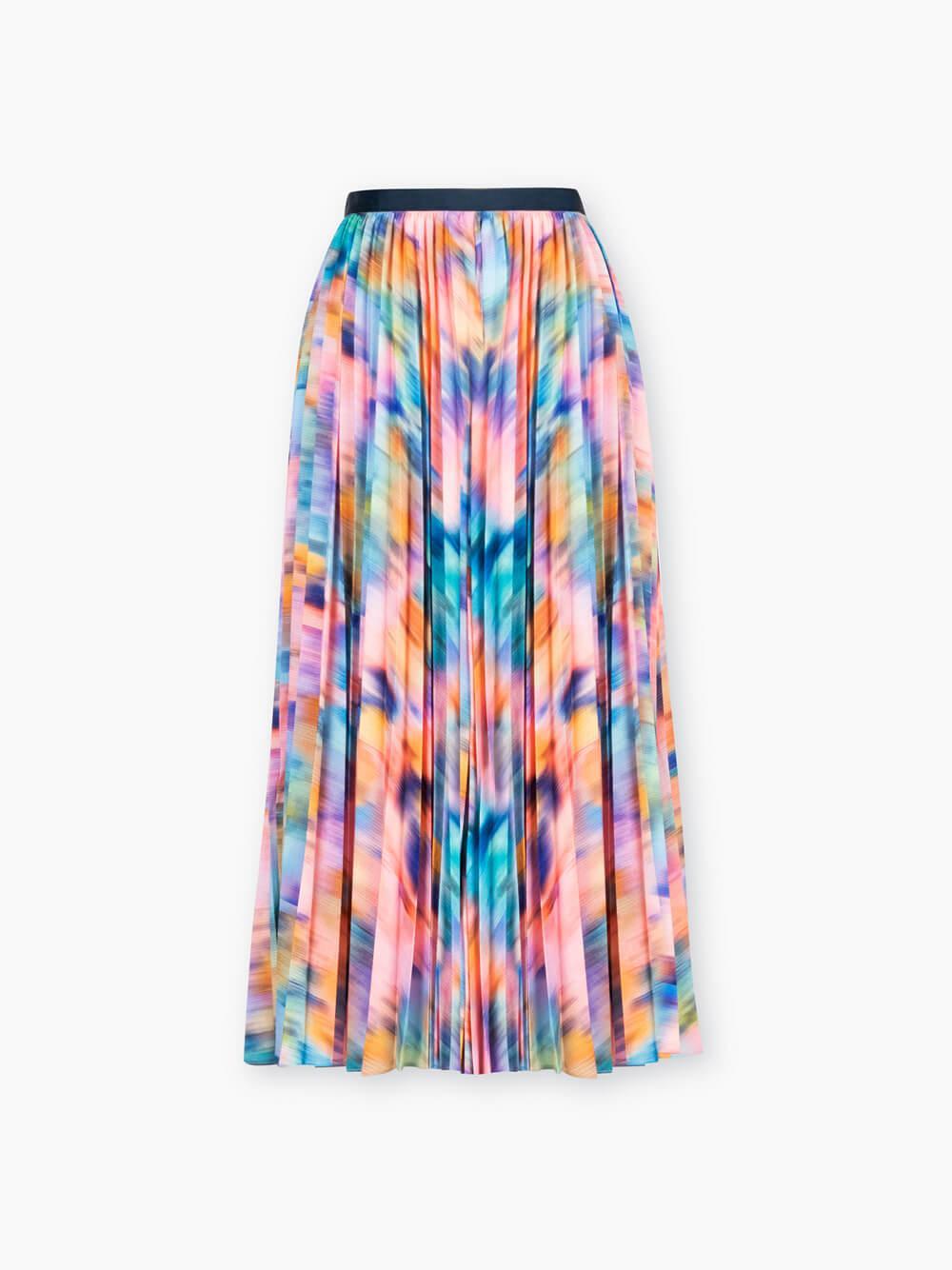 Primrose Printed Pleated Midi Skirt Item # F20S330179