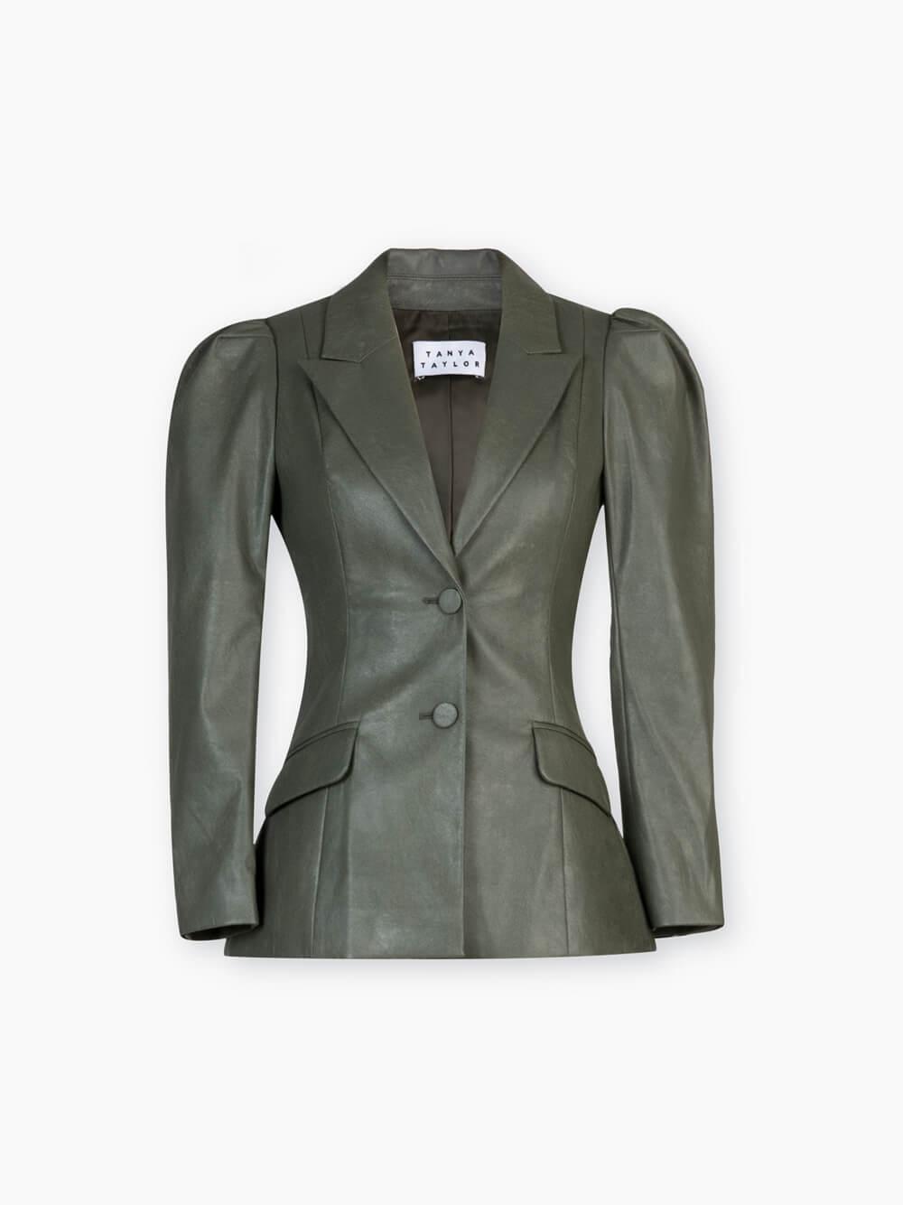 Mariel Faux Leather Puff Sleeve Blazer Item # F20J094158