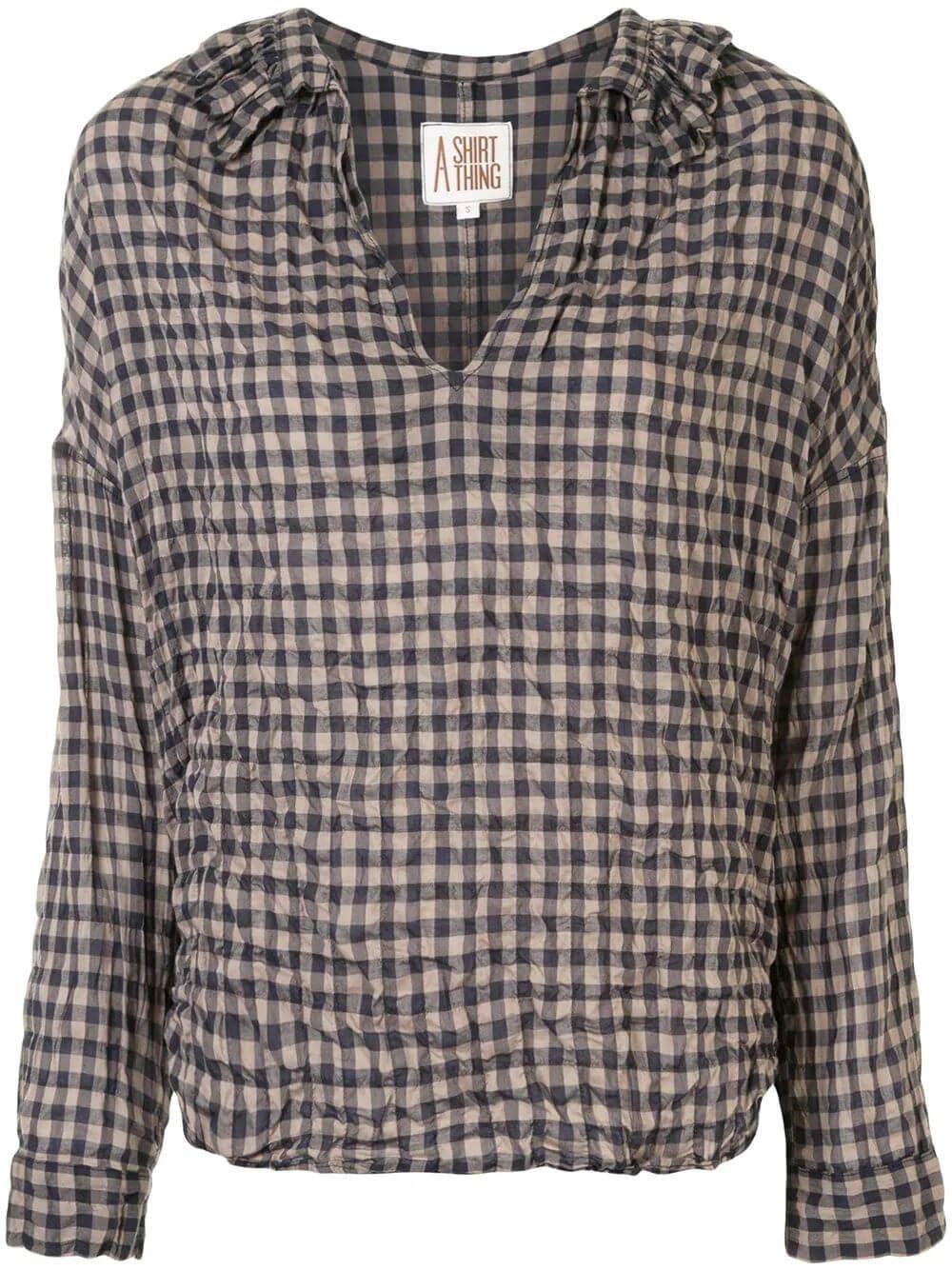 Penelope Gingham Shirt Item # 706-JS35424