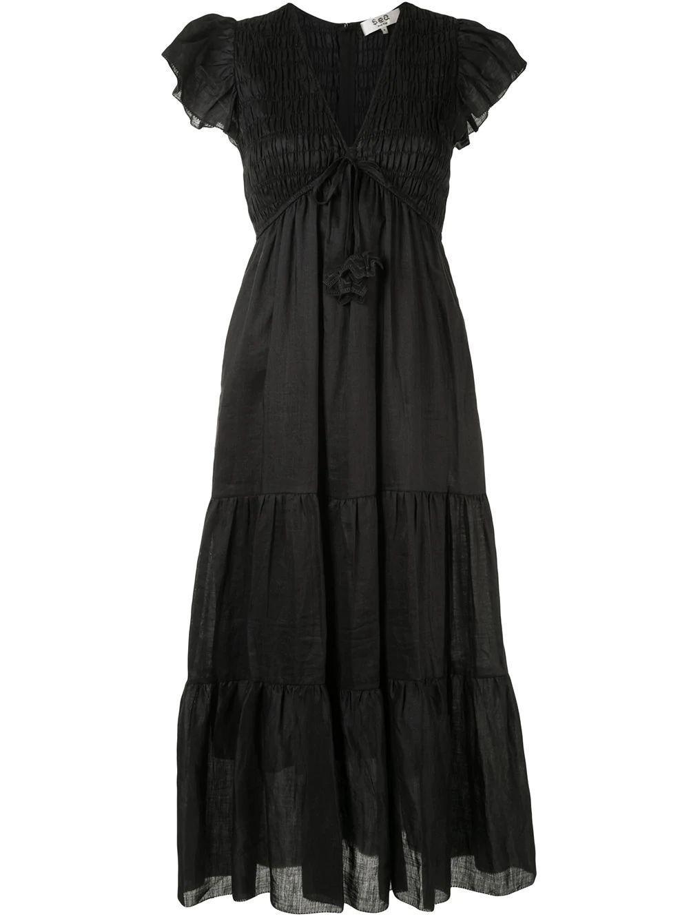 Zig Zag Maxi Dress Item # AW20-126