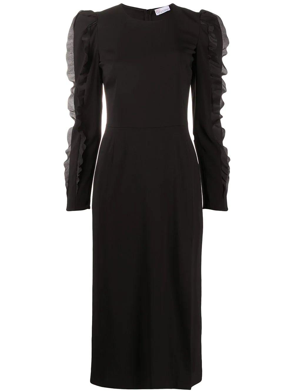 Ruffle Sleeve Midi Dress Item # UR3VAS703TA