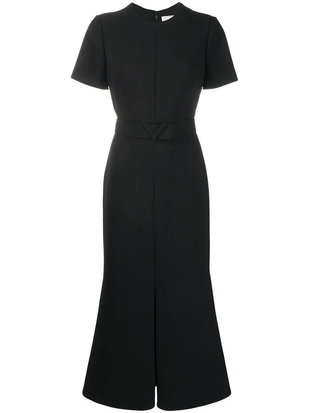 Short Sleeve Belted Midi Dress Item # UB3VAST05JN