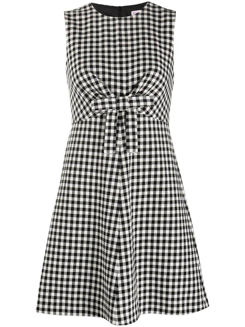 Plaid Dress With Bow Detail Item # UR3VAR9055V
