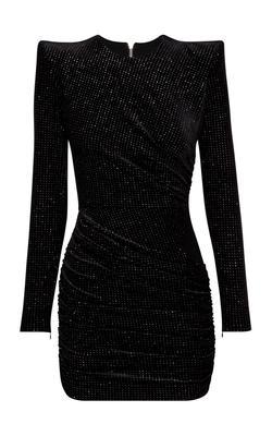 Raine Glitter Velvet Mini Dress