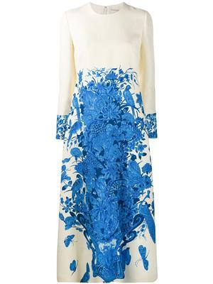 Floral Vase Print Dress