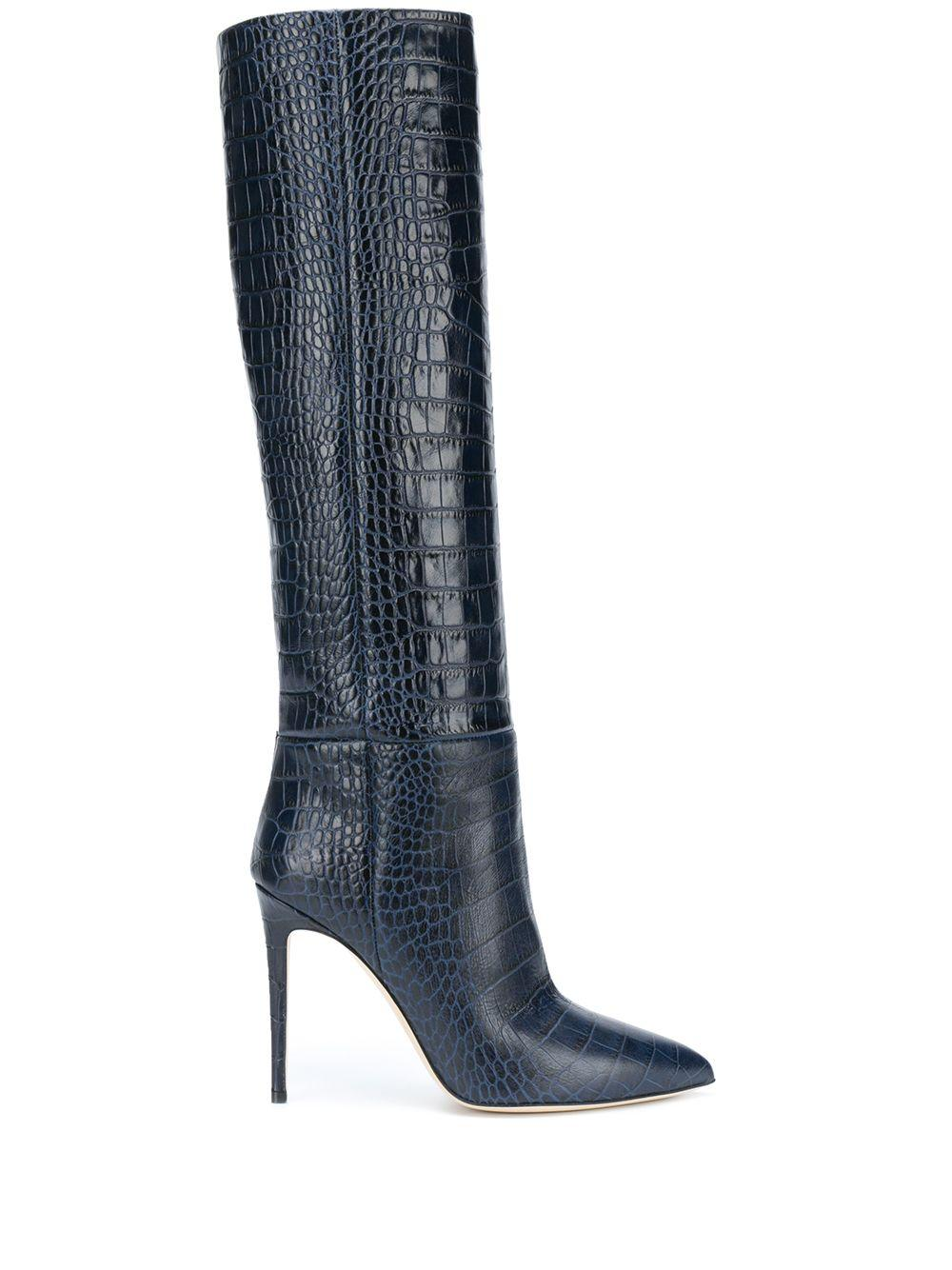 Croc Embossed Tall Boot