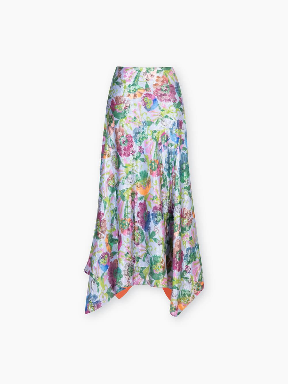 Erin Fan Floral Printed Skirt Item # F20S333161
