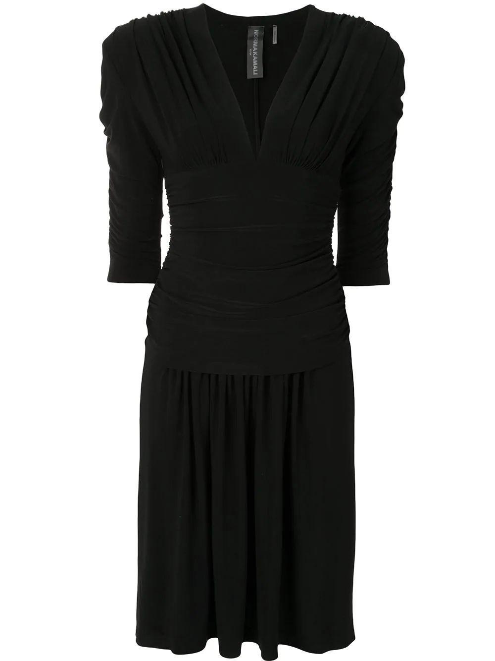 Shirred Sleeve Dress Item # KK3203PL199001