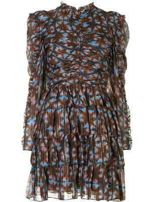 Siya Puff Sleeve Ruffle Skirt Dress