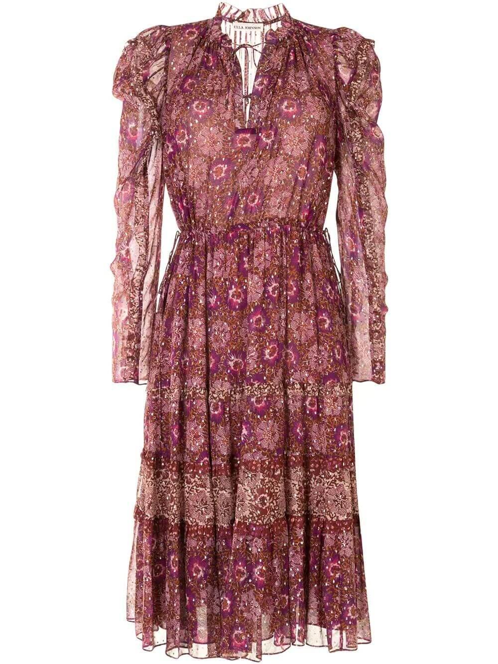Alessandra Patchwork Dress Item # FA200124