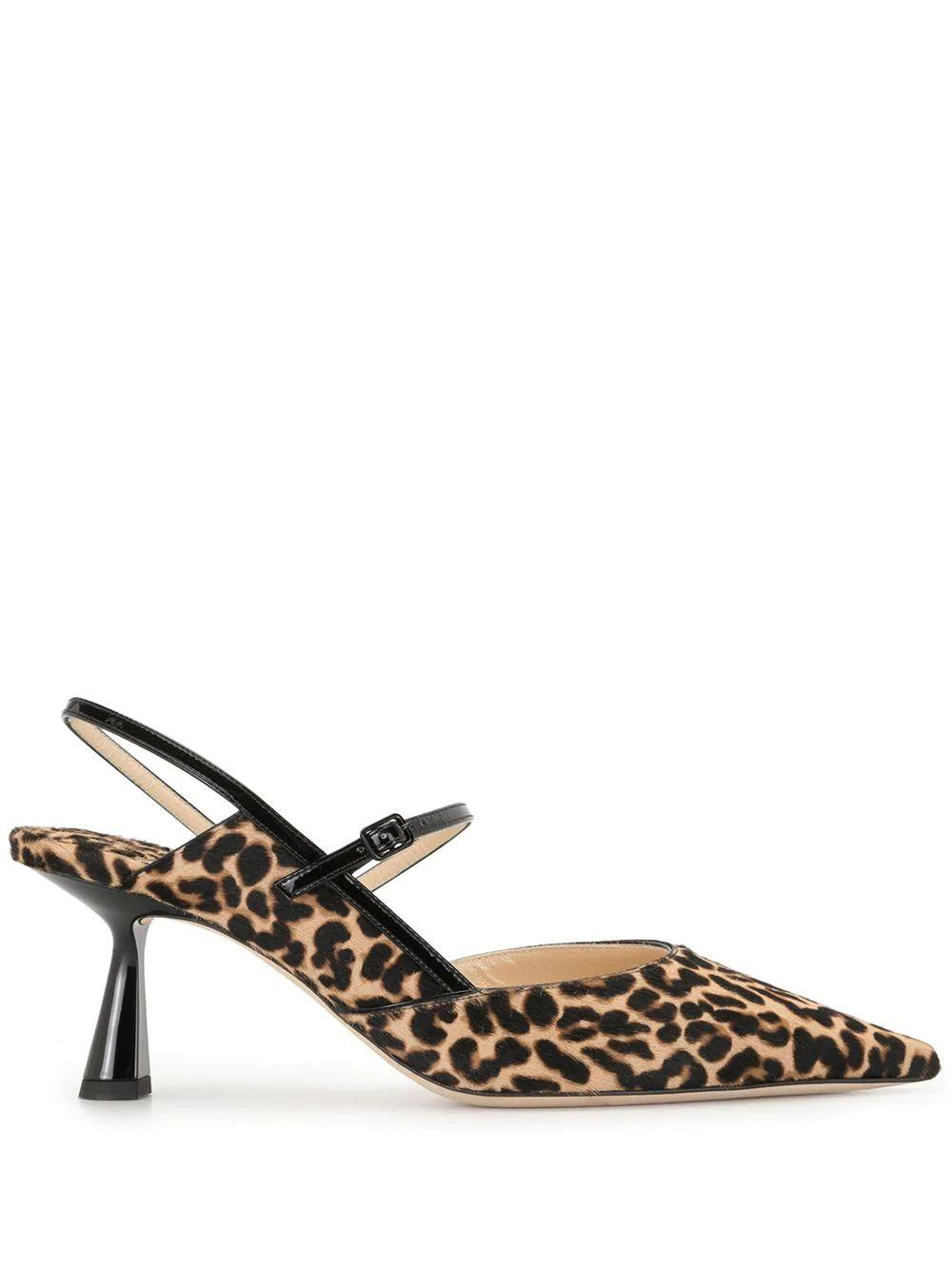 Ray 65mm Leopard Slingback Item # RAY65-LPT