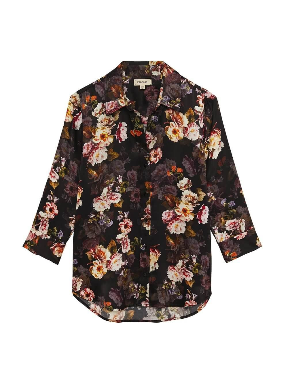 Dani Rose Print Blouse Item # 40126MRS