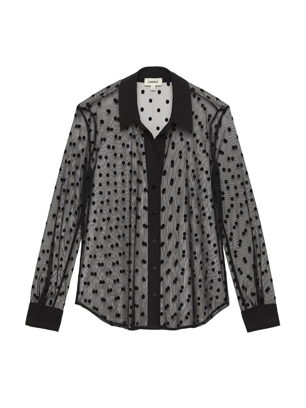 Hailie Dotted Sheer Blouse