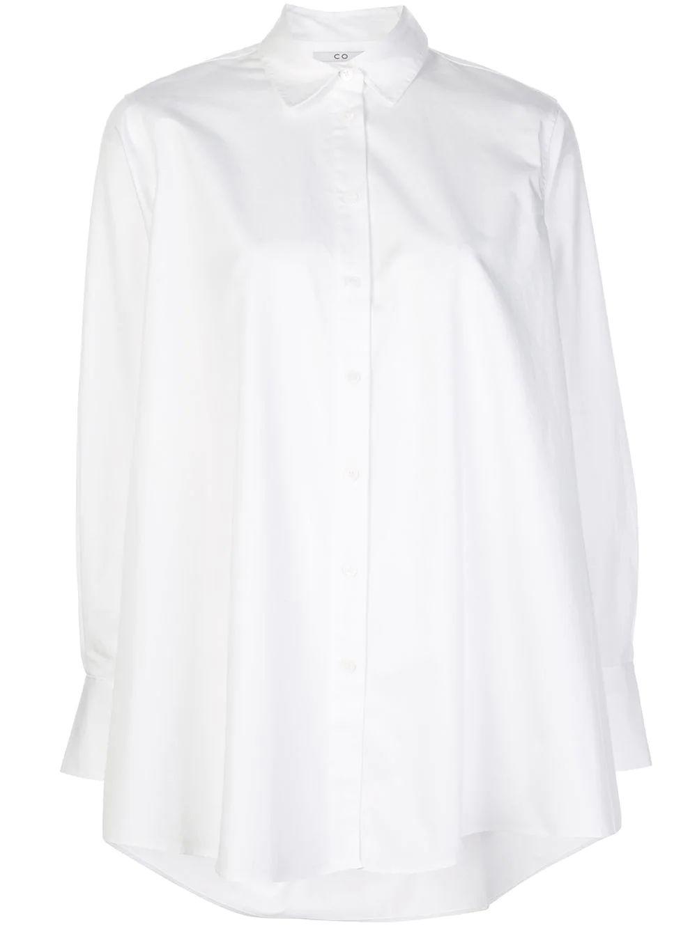 Button Front A- Line Blouse Item # 1179STN-ESSN