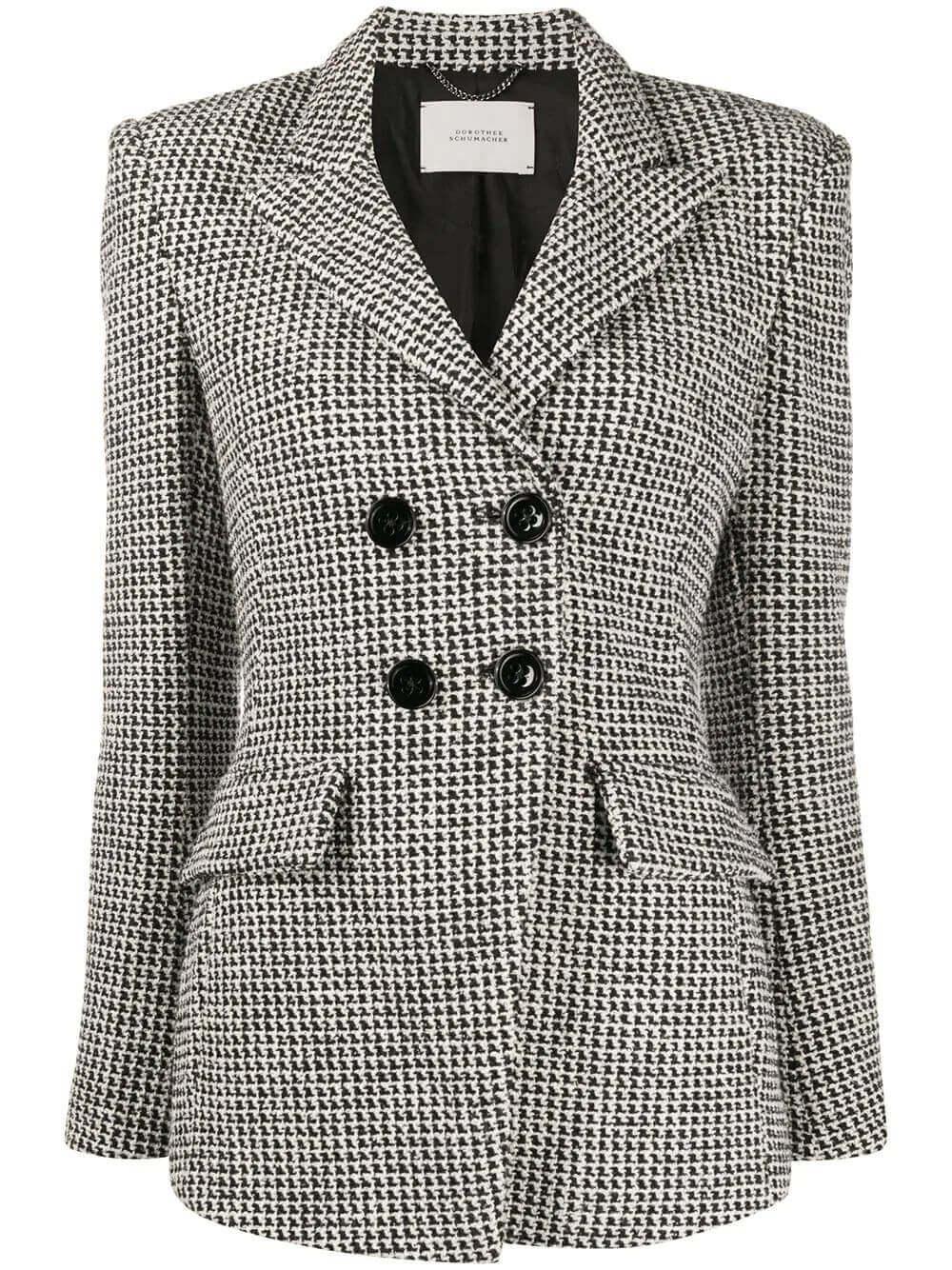 Checked Comfort Tweed Jacket Item # 940502