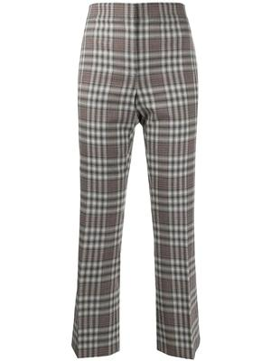 Plaid Crop Flare Kick Pant