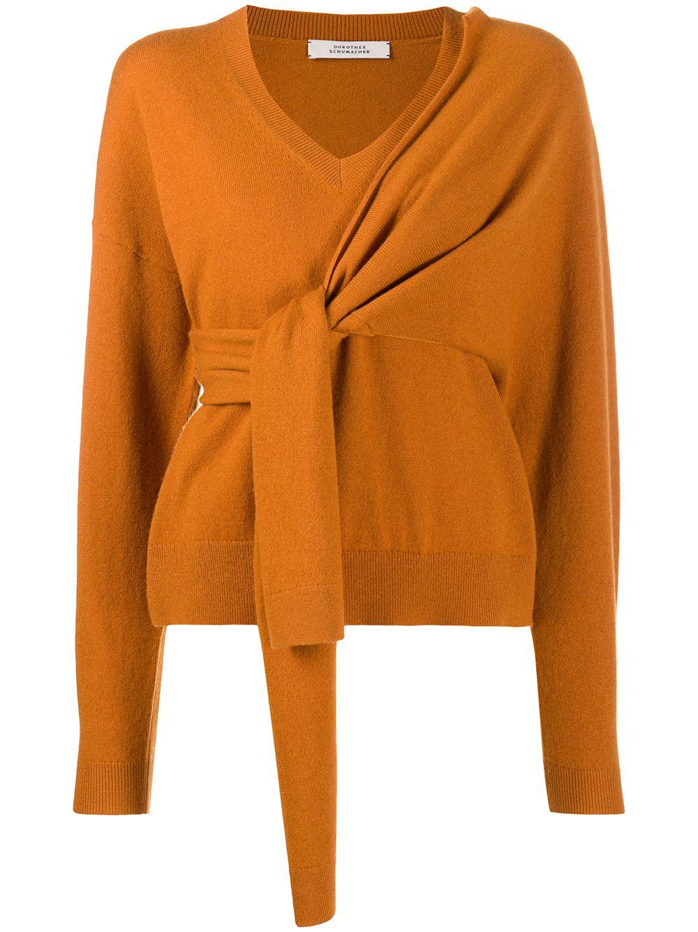 Deconstructed Look Pullover Vneck Sweater Item # 910403