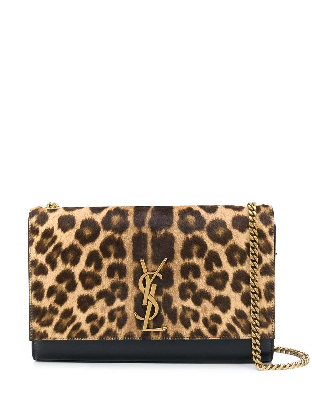 Kat Leopard Flap Logo Bag Item # 3640211ZR2W