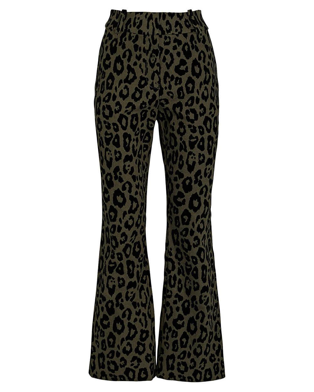 Corinna Leopard Cropped Flare