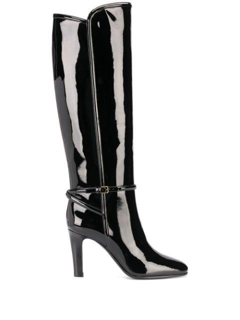 90mm Patent Leather Knee High Boot Item # 6326291TV00