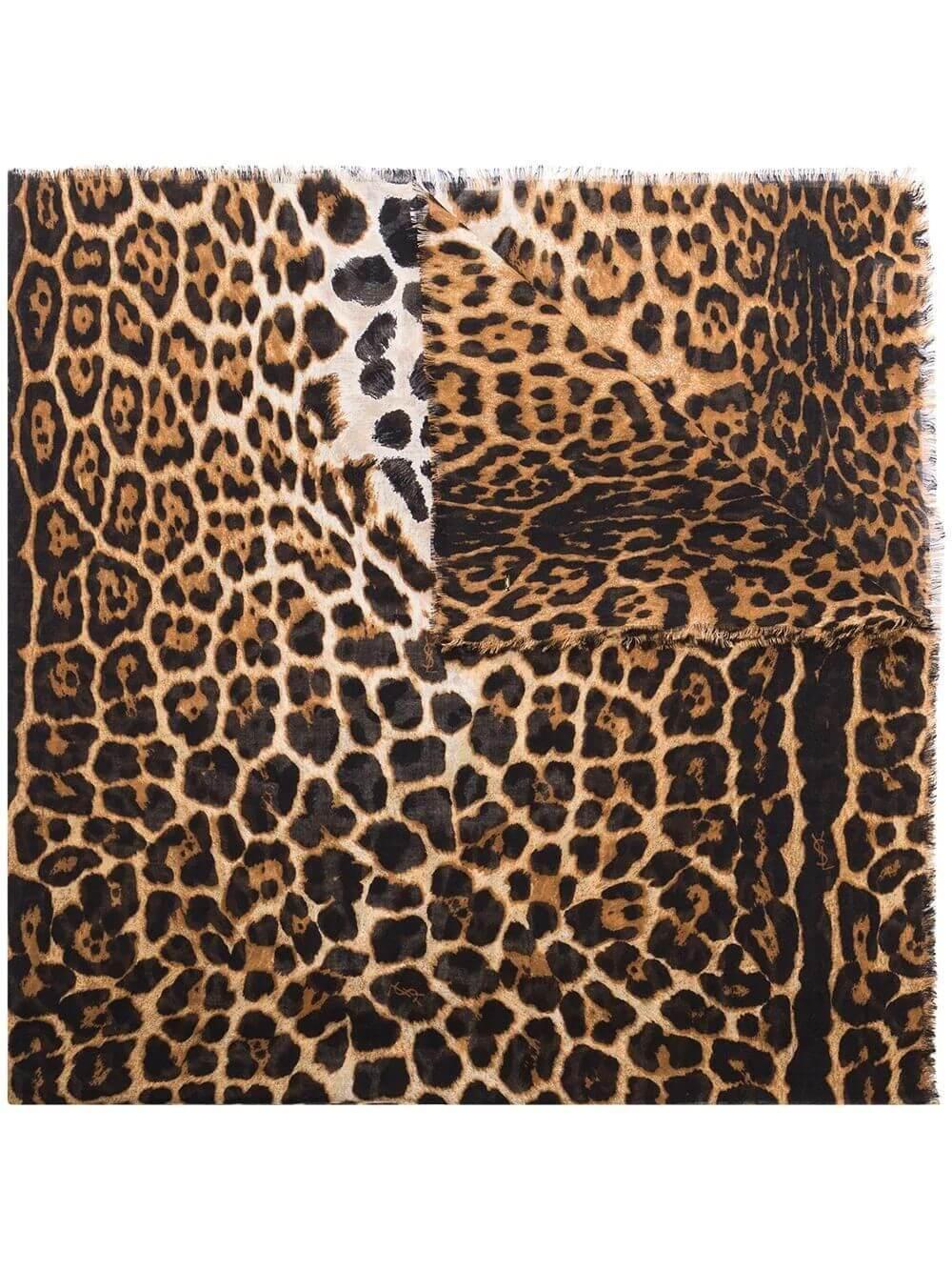 Classic Leopard Print Scarf Item # 4655263Y667-PF20