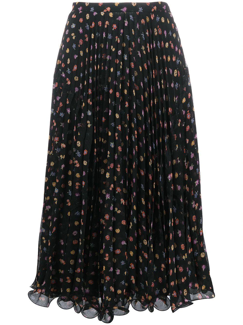 Floral Printed Midi Skirt Item # CHS20AJU02032