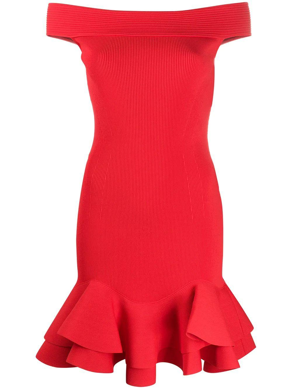 Off Shoulder Knit Mini Dress Item # 633641Q1APM